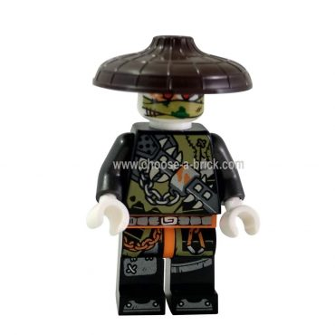 Dragon hunter - dark brown hat - LEGO Minifigure Ninjago