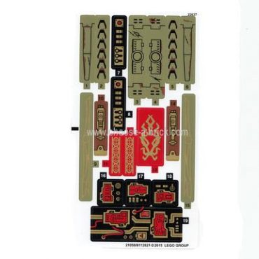 Ninjago Sticker for Set 70738 - (21058/6112821) - LEGO Parts and Pieces