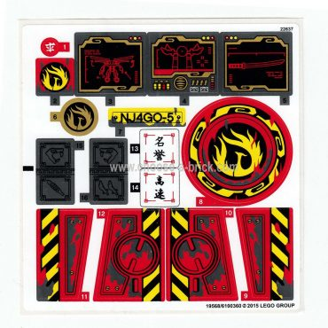 Sticker for Set 70750 Ninjago - International Version - 19568-6100360 - LEGO Parts and Pieces